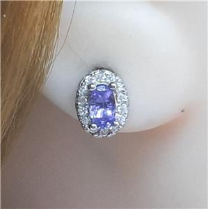 Glorious Genuine Cornflower Blue Stud Earrings