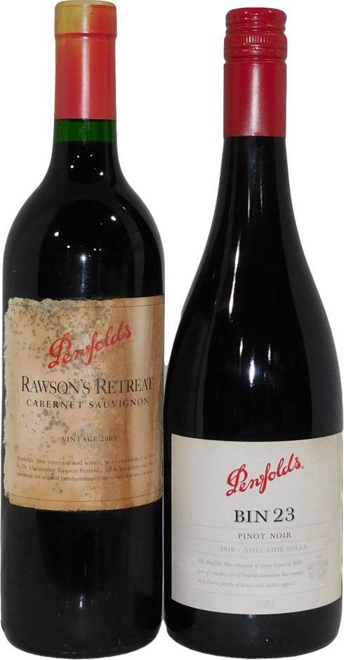 Pack of Assorted Penfolds Wine (2x 750mL), SA, Mixed Closure