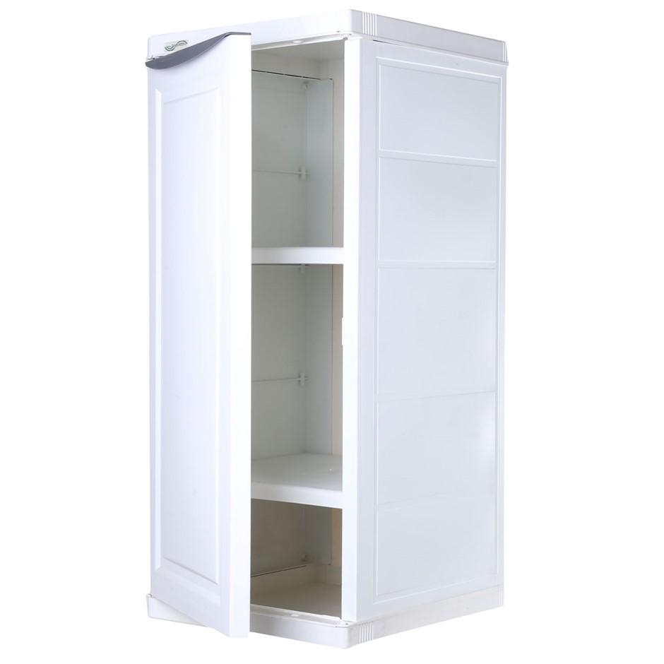TRIOPLAST Resin Indoor/Outdoor Cupboard, 38 x 44 x 90cm Height w/ 2 x Shelv