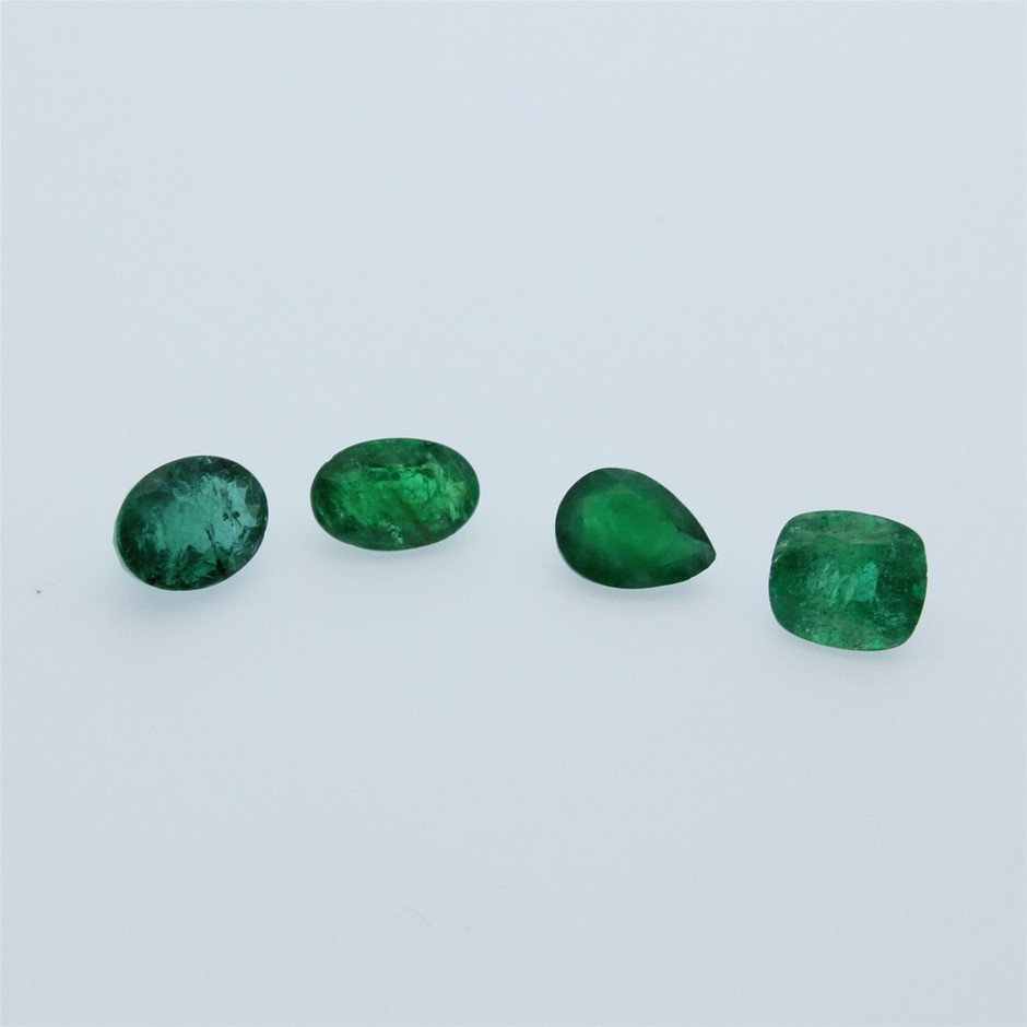 Four Loose Emerald, 5.55ct in Total