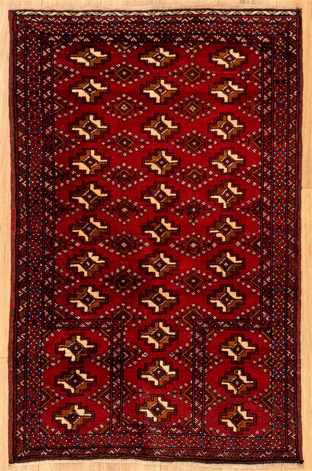 Handknotted Pure Wool Very Fine Persian Baluchi Rug - Size 128cm x 82cm