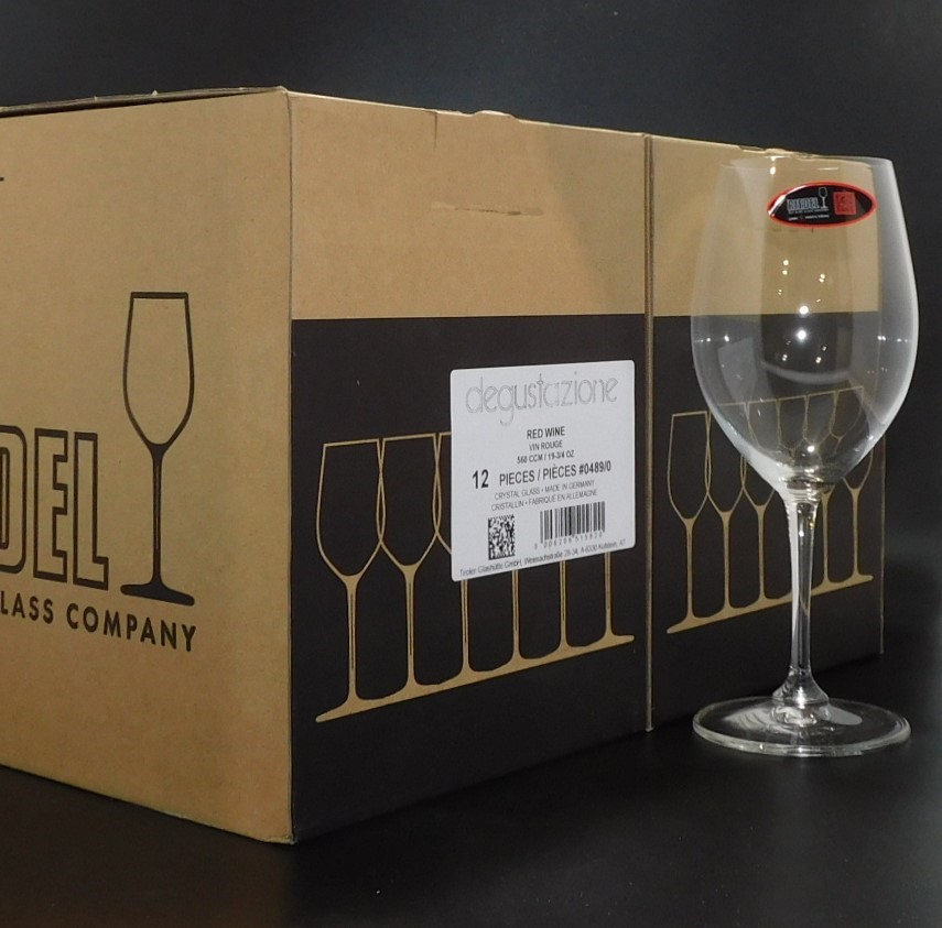 12 Riedel 560CCM Crystal Glass Degustazione Red Wine Glasses (12 x 560CCM)