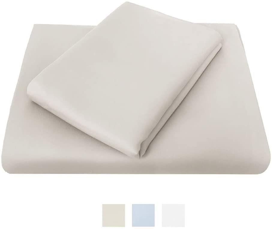 BAMBURY Chateau Flat Sheet Flat Sheet, King Single, Mocha. Cotton. Buyers N