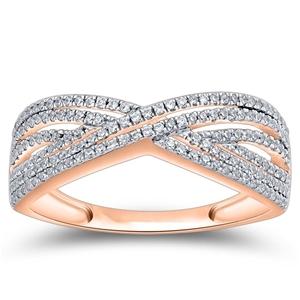 9ct Rose Gold, 0.21ct Diamond Ring