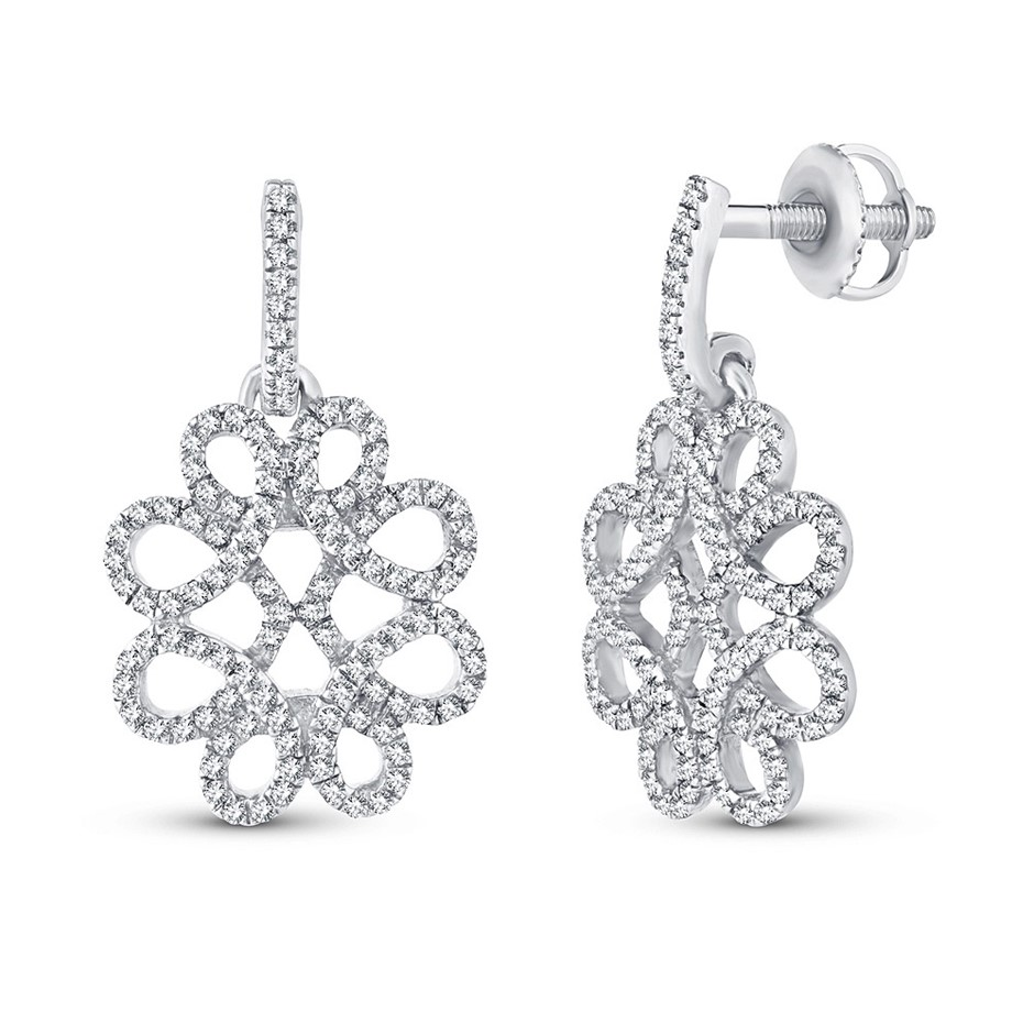 9ct White Gold, 0.27ct Diamond Earring