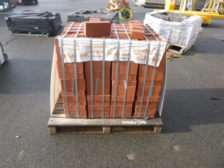 Pallet of Red Pavers