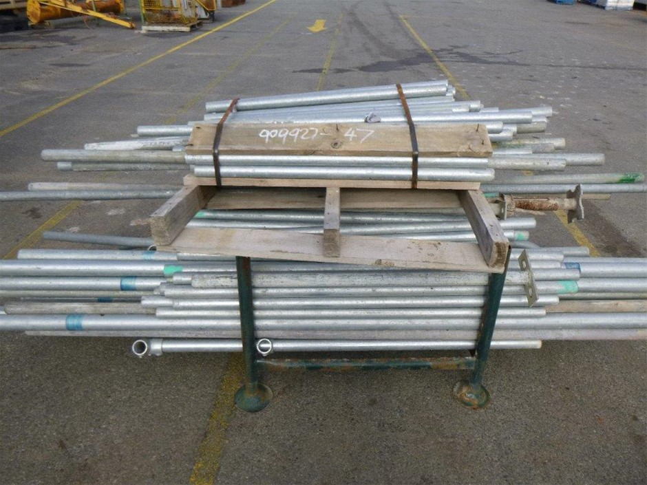 Stillage and Pallet Containing Scaffold Posts