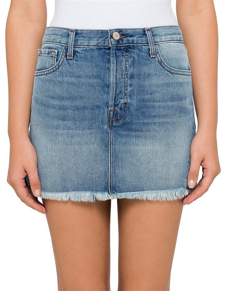 J BRAND Bonny Mid Rise Mini Skirt, Size 30, Colour: Hydra. Buyers Note - Di