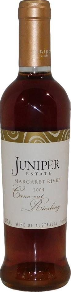 Juniper Estate Cane Cut Riesling 2004 (6x 375mL), Margaret River. Cork