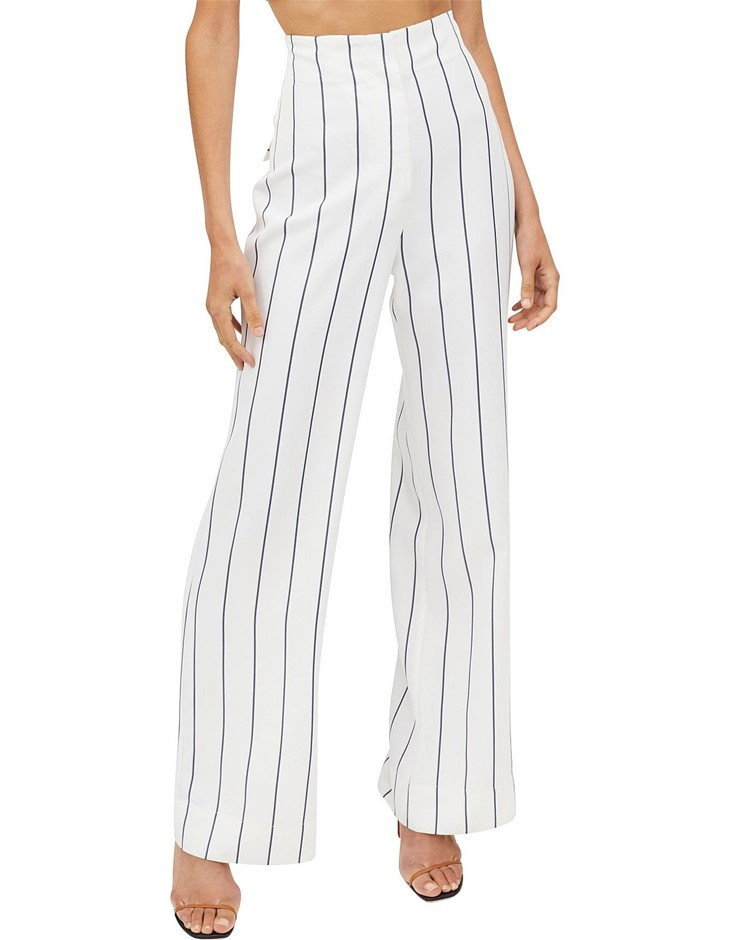 MANNING CARTELL Paper Giants Pant. Size 14, Colour: White/Navy. ORP: $449 B