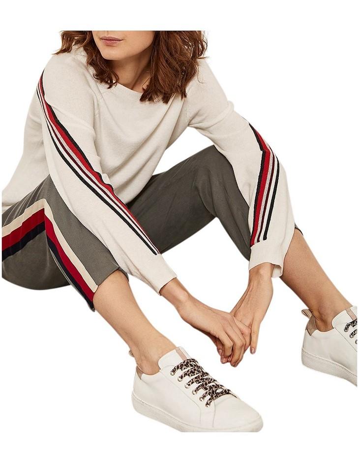MINT VELVET Side Stripe Sports Pant. Size 18, Colour: Dark Green. ORP: $159