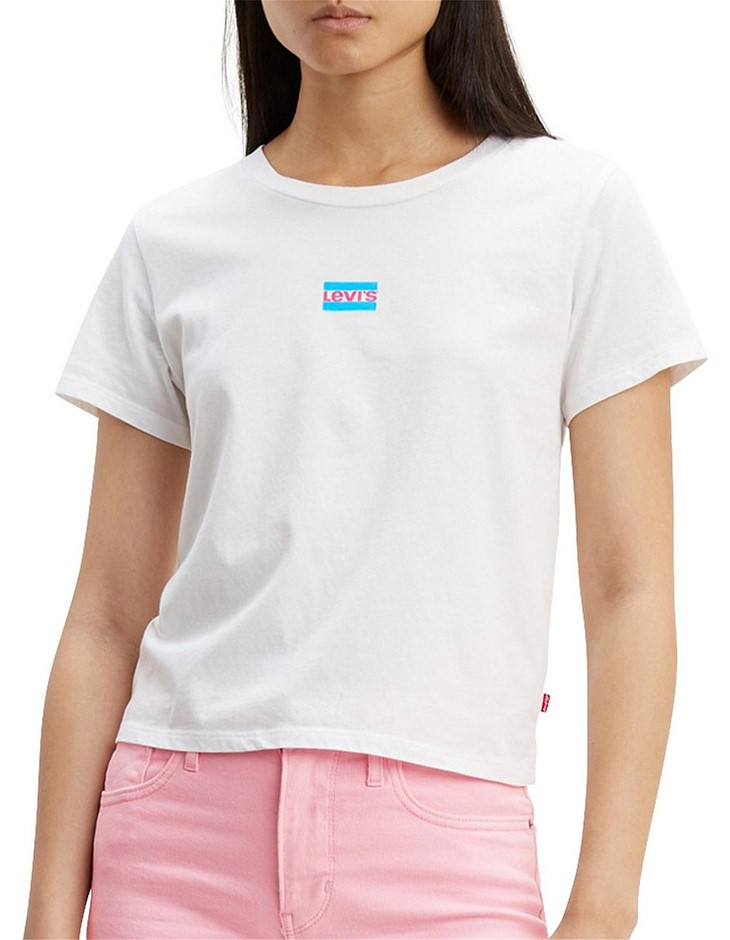 LEVI`S Graphic Surf Tee. Size S, Colour: White Graphic. Buyers Note - Disco