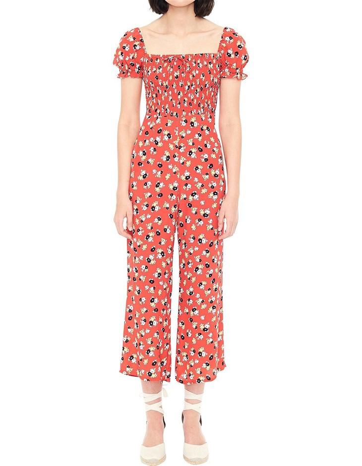 FAITHFULL THE BRAND Della Jumpsuit. Size XS, Colour: Jasmine Floral. ORP: $