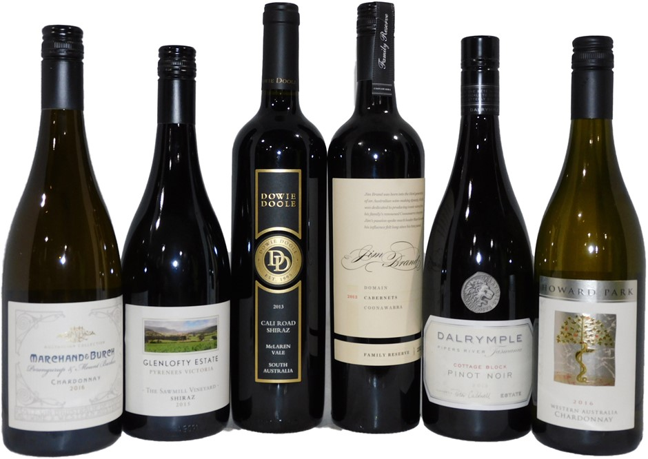 Premium Selection Pack of Red and White Wine (6x 750mL), Multi-Regional