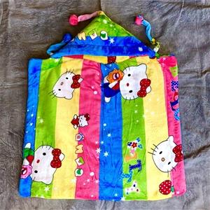 Super Soft Plush Infant Wrap Blanket wit