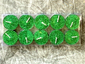 30 (3 x 10 pack) tealight candles - gree