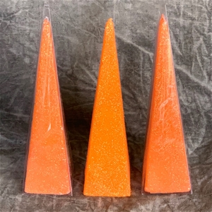 3 x LARGE PYRAMID CANDLE (20cm tall) - O