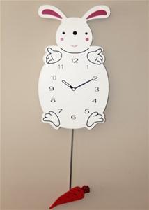 Bunny Clock with Carrott Pendulum (38cm