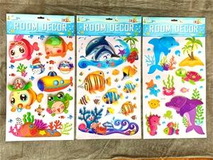 3 x Wall Decals - 6D Sea Creatures, 3 di