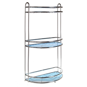 2 x Bathroom Storage Racks, Chrome Plate