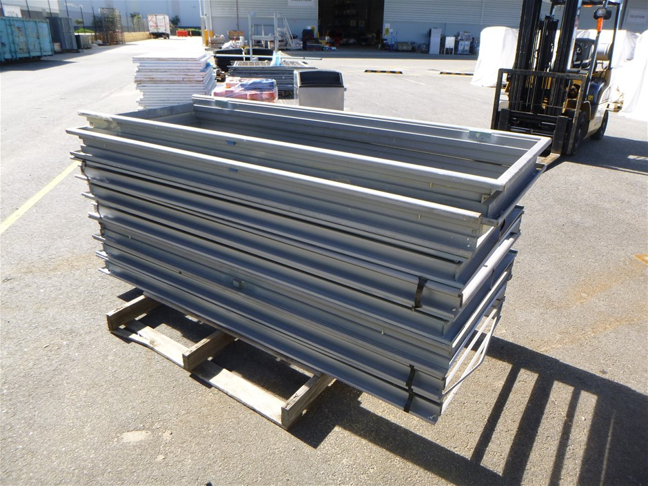 Qty 8 x Pressed Steel Door Frames with Hinges