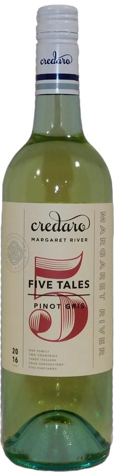 Credaro Five Tales Pinot Gris 2016 (1x 750mL), Margaret River, WA. Screwcap