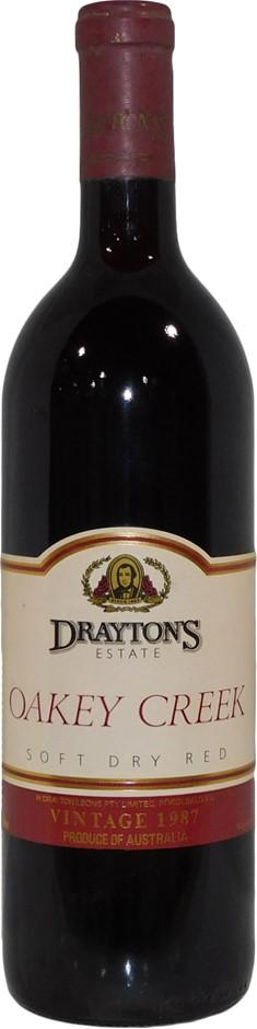 Draytons Estate Oakey Creek Soft Dry Red 1987 (1 x 750mL), NSW. Cork