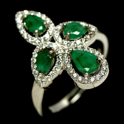 Glorious Genuine Emerald Ring.
