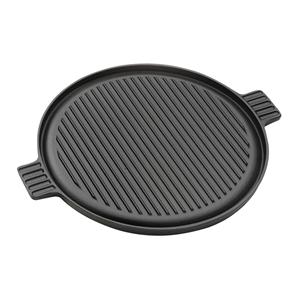 SOGA 43cm Round Ribbed Cast Iron Frying