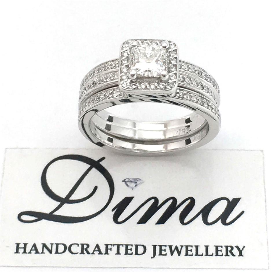 18ct White Gold, 0.90ct Diamond Engagement Ring