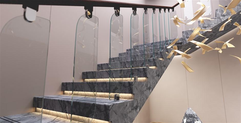 Frameless Glass Stairs Balustrade Toughened Glass - Oriel