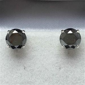 18ct White Gold, 3.32ct Diamond Earring