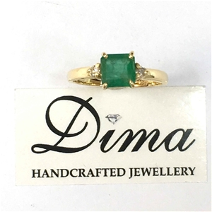 18ct Yellow Gold, 1.67ct Emerald and Dia