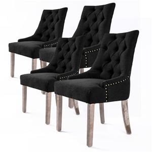 4X French Provincial Oak Leg Chair AMOUR