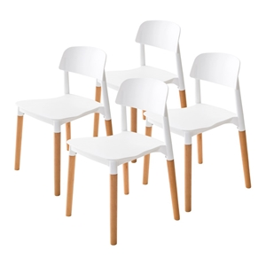 4X Belloch Stackable Dining Chair - WHIT