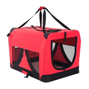 XL Portable Soft Dog Crate - RED