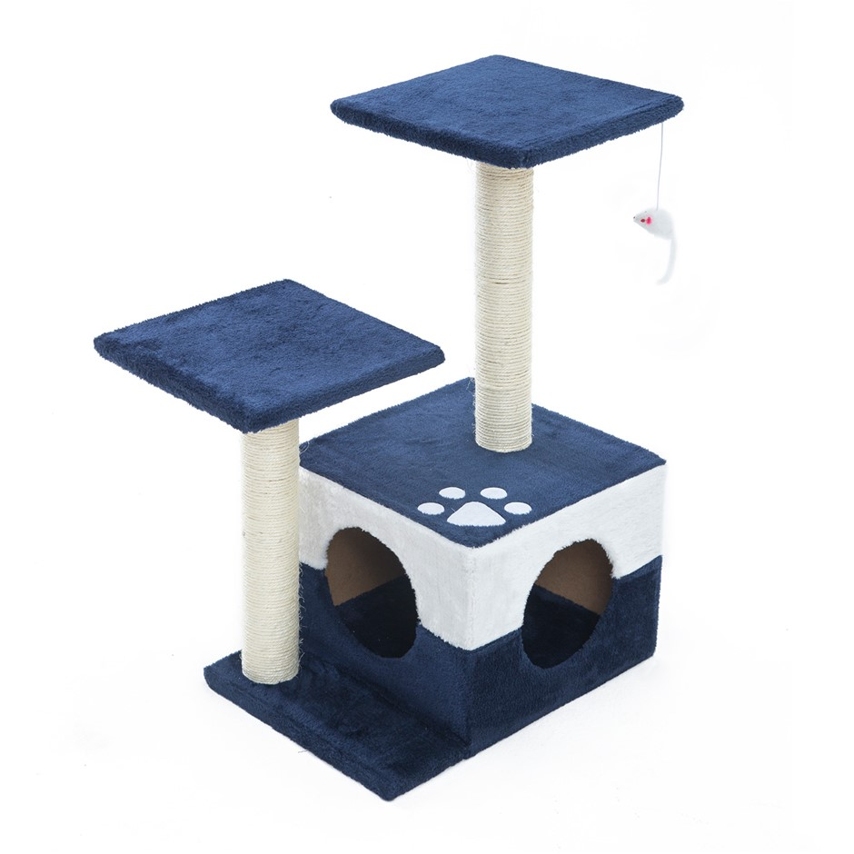 69cm Cat Tree Scratcher MONO - BLUE