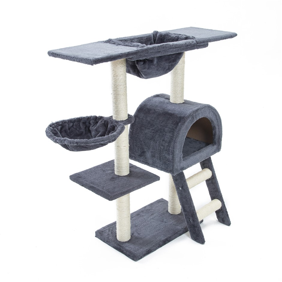 100cm Cat Tree Scratcher ATACAMA - GREY