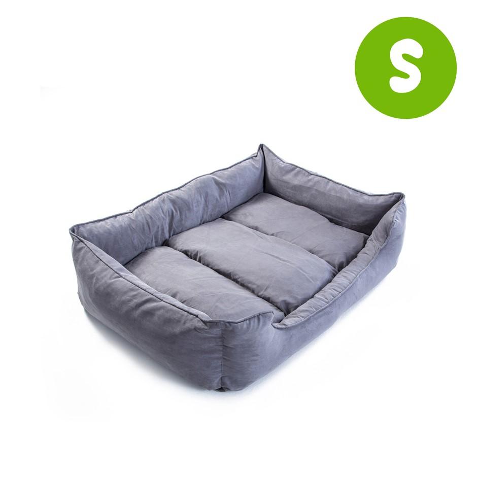S 70 x 60 x 18cm Pet Suede Sofa HUSK - GREY
