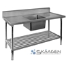 Unused Single Centre 1300 x 600 Stainless Steel Sink FSA-1-1300C