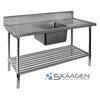Unused Single Centre 1300 x 600 Stainless Steel Sink FSA-1-1300C