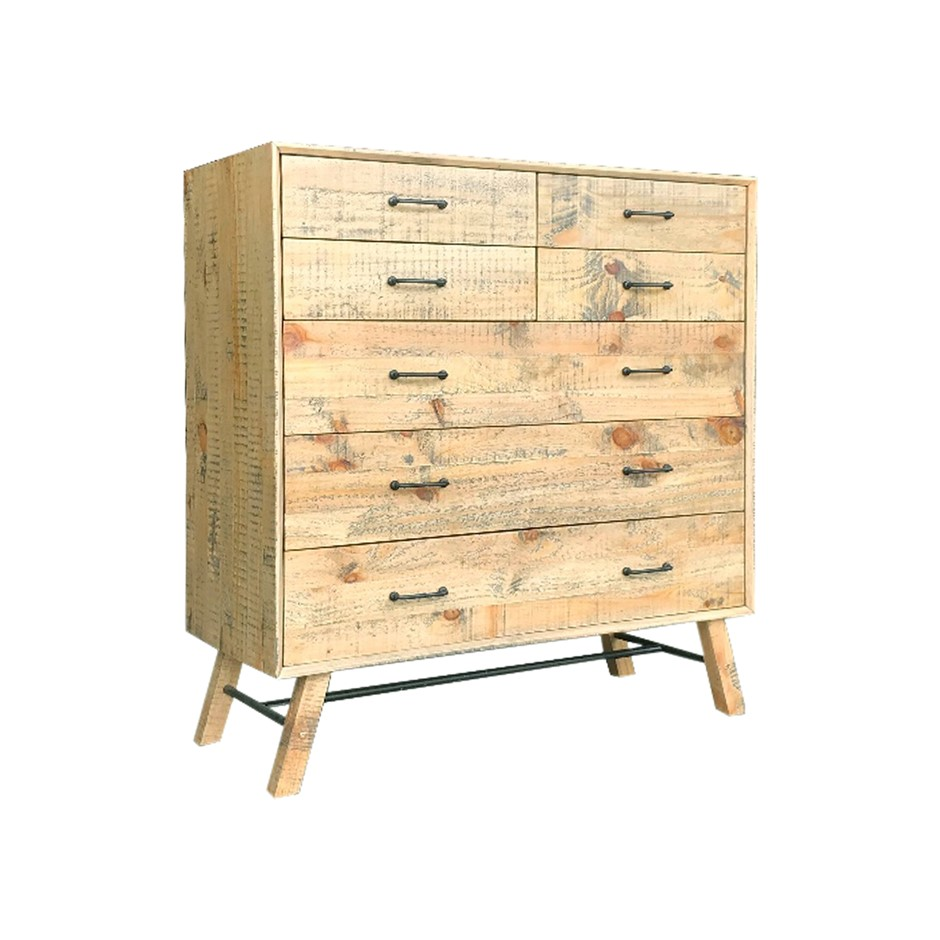 Bondi Tallboy is a beautiful wooden vintage style with ozzy colour.