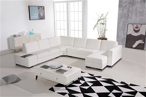 Modern Sectional Sofa Upholstered in Pre