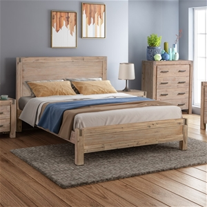 Single size Bed Frame Solid Acacia Wood