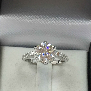 18ct White Gold, 2.16ct Moissanite and D