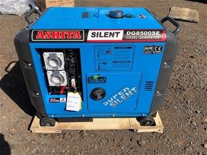 Unused Ashita Silenced 6Kw Diesel Genera