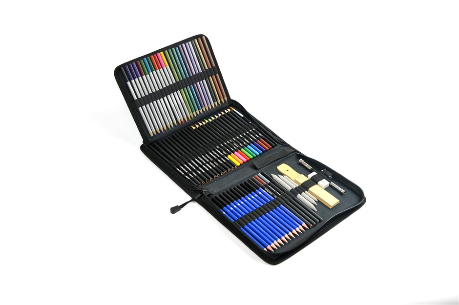 Art Sketch Pencils Oil Drawing Colouring Graphite Charcoal Set 72pcs/set