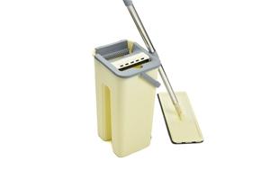 4x Microfiber Pads Flat Mop Bucket Kit 3
