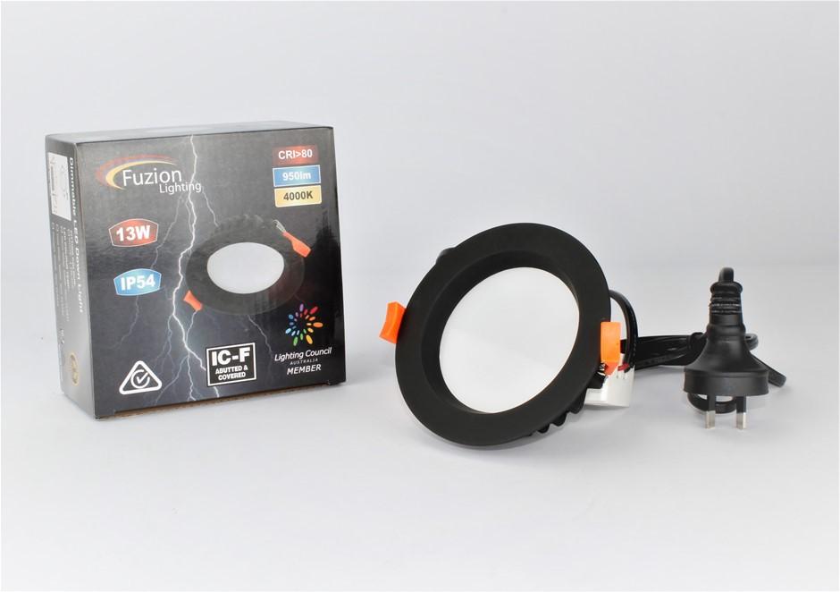 FL5432 - FUZION LIGHTING - LED DOWNLIGHT 13W - 4K - BLACK FINISH