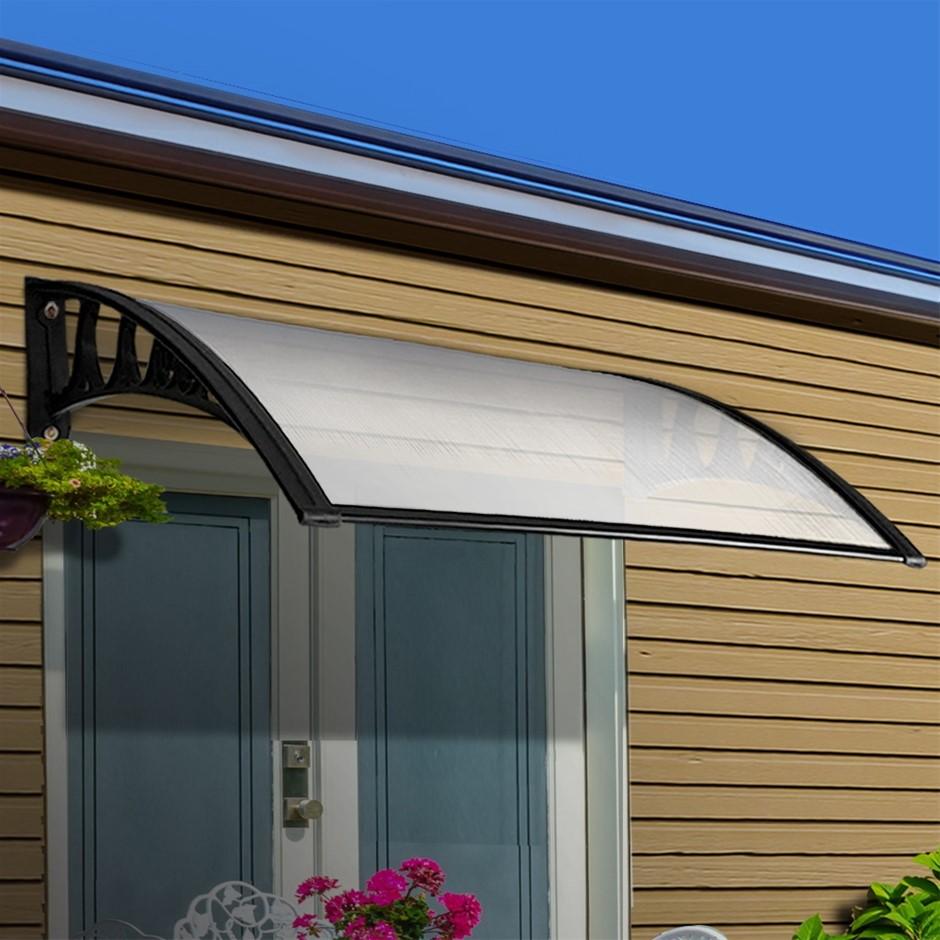 Instahut Window Door Awning Door Canopy Patio UV Sun Shield WHITE 1mx6m DIY
